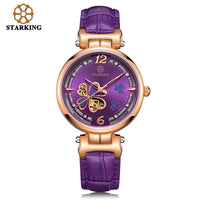 STARKING Luxury Blue Clover Watch Montre Gold Automatic Vintage