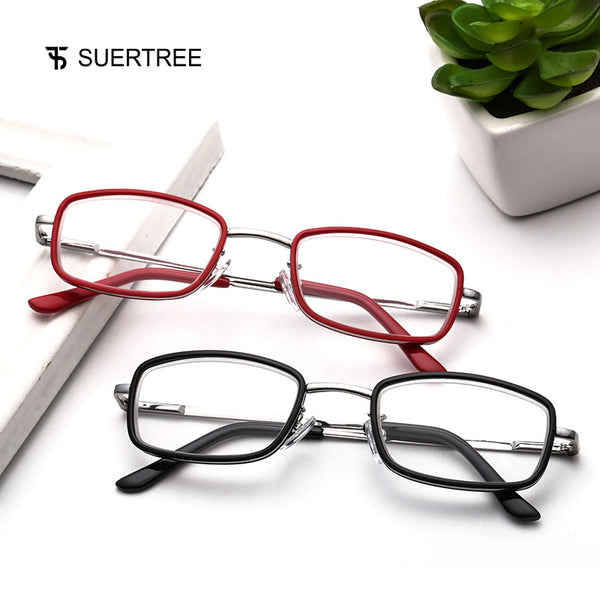 SUERTREE Reading Glasses Prescription Eyeglasses Readers Full Rim HD Coating Anti Blue 1.0 1.5 2.0 2.5 3.0 3.5 BM121