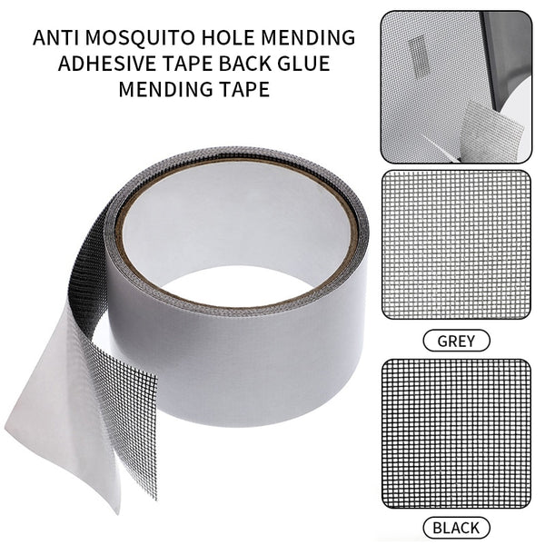 Screen Repair Tape Window Door Waterproof Patch Self-adhesive Super Fix Anti-Insect Door Mosquito Net Mesh Broken Holes Repair