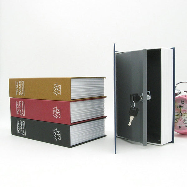 Security Safe storage Box Dictionary Diversion Portable Book Storage Case with Key Lock Home Cash Money Jewelry Locker