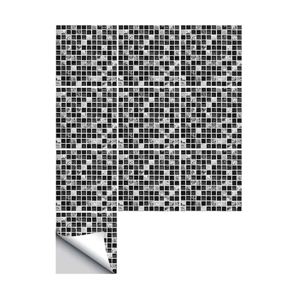 Self adhesive Waterproof Black marble Mosaic Wall Art Kitchen Furniture Tile Sticker Wall Decal 15*15cm/20*20cm 10PCS/SET