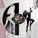 Sexy Chick Stripper Wall Art Mallakhamb Wall Clock Sexy Dancing Girl Pole Dancers Night Club Steal Tube Vinyl Record Wall Clock