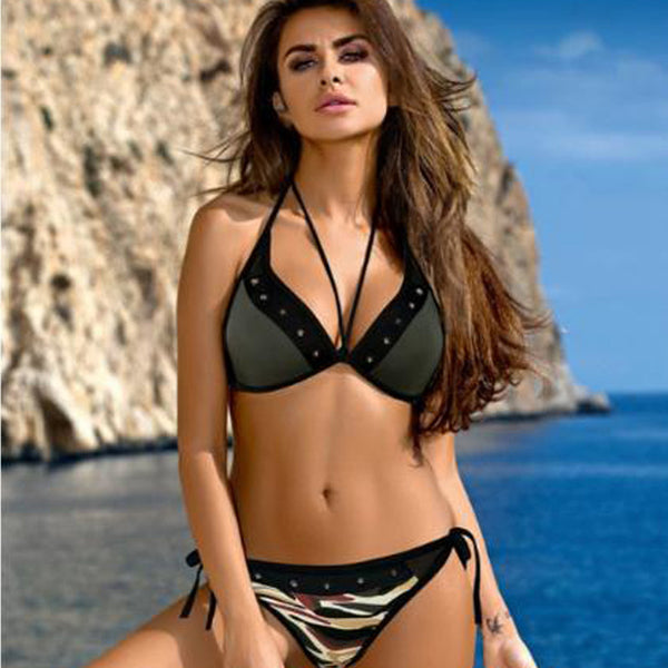 3e5f038466 Sexy Print Bikinis Set 2019 Women Push Up Swimwear Brazilian Bathing Suit  Beachwear Backless Swimsuit Thong
