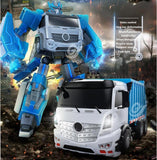 Smart electric RC kids toy TT676 2.4G large voice contol one key deformation intelligence transform RC robot truck model toy