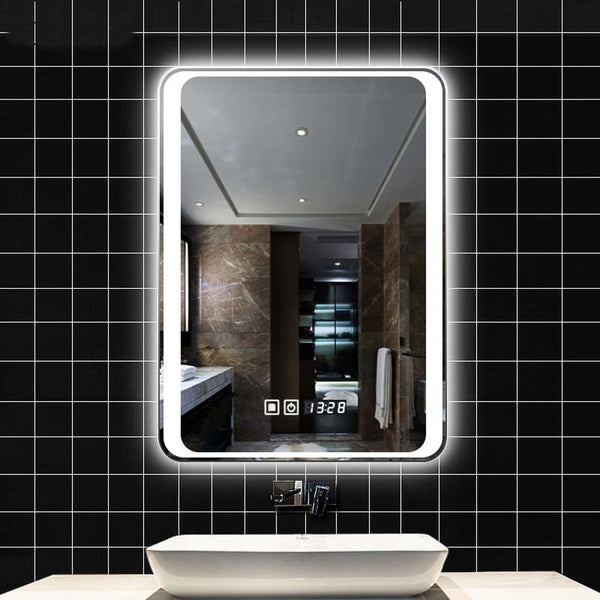 Smart mirror led bathroom mirror wall bathroom mirror bathroom toilet fog light mirror with Bluetooth touch screen LO6111151