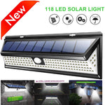 Solar Lamp 118 LED PIR Motion Sensor Lamp Outdoors Waterproof Garden Lights Emergency Security