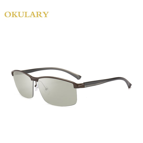 Sport Men Polarized Sunglasses 3 Colors Black/Gold/Brown Metal Frame Rectangle UV400 Glasses for Men Come With Box
