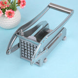 Stainless Steel French Fries Cutters Potato Chips Strip Cutting Machine Maker Slicer Chopper Dicer W/ 2 Blades Kitchen Gadgets