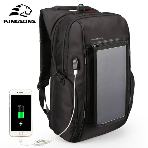 Steven Solar Panel Backpacks 15.6 inches Convenience Charging Laptop Bags for Travel Solar Charger Daypacks Luxurious luggage