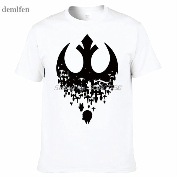 Summer Men T Shirts New Star Wars Fractured Rebellion Men's T-Shirt Fashion Print T-Shirts Short Sleeve O Neck Cotton Tees Tops