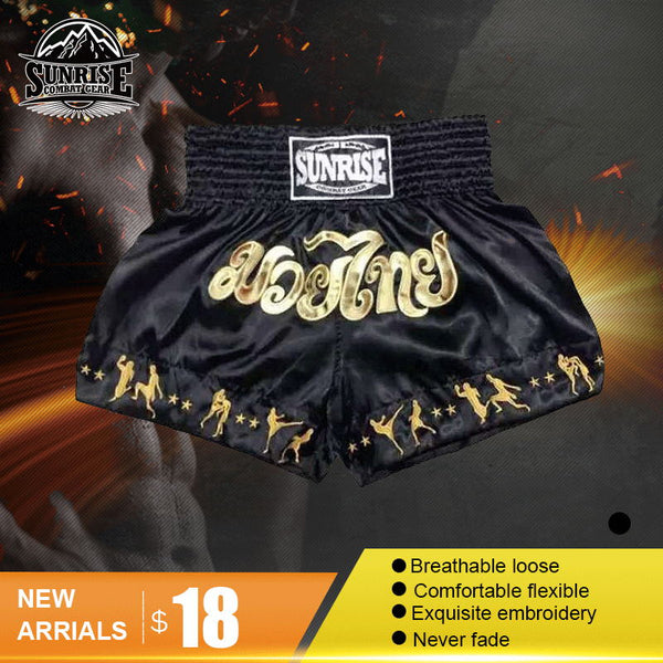 Sunrise MMA Shorts Grappling UFC Kick Boxing Short Mens Muay Thai Pants Gym Wear Thai Boxing Shorts