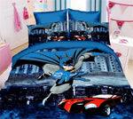 Super Hero Anime Batman Spiderman Bedding Sets 2/3pcs Bedclothes Include Duvet Cover Bed Sheet Pillowcase Kids Room Bed Sets