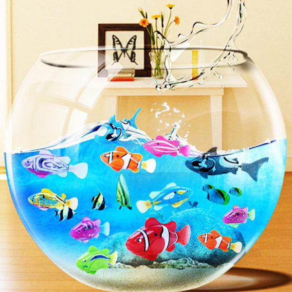 Swim Electronic Fish Pet Battery Powered for Kids. Bathing Fishing Tank Decorating Act Like Real Fish Interactive Toys