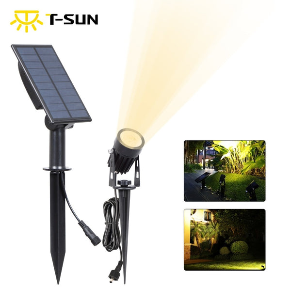 LED Landscape Solar Spotlights Waterproof Outdoor Solar Lights Auto ON/OFF Solar Wall Lights for Garden Driveway Pathway
