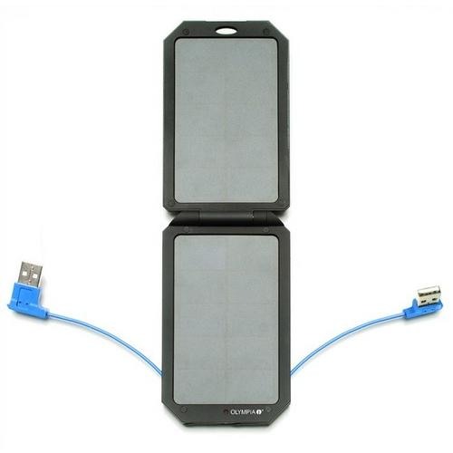 Solar Power 5500mAh Charger with 2 Outpu
