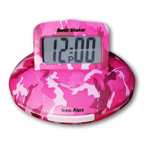 Sonic Boom Alarm Clock in Pink Camo