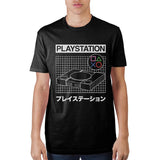 Playstation Grid Black T-Shirt