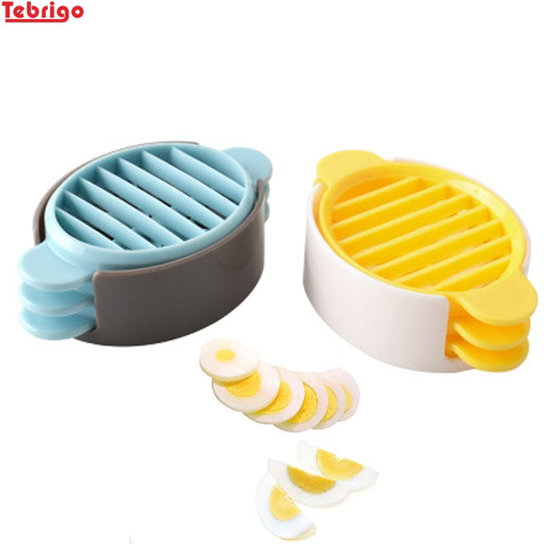 Tebrigo Egg Slicers 3 in 1 Egg Cutter Eggs Splitter Dividers Preserved Eggs Tool Kitchen Gadgets Cooking Tools