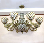Tiffany Chandelier European Vintage Classical Glass Suspension Light Bar Cafe Lamp Restaurant Hanging Lamp Pendientes
