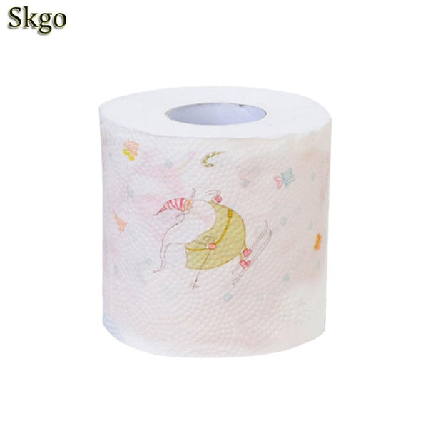 Tissue Roll 3 Layers Paper 2 Tree Christmas Years Claus Christmas Toilet Cute Hotel Cafe Santa Printed Elk 1 Home