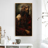 Top Artist Hand-painted High Quality Chris Jesus Oil Painting Modern Abstract Wall Luxury Art Chris Jesus Portrait Oil Painting