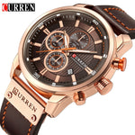 Top Brand Luxury CURREN Fashion Leather Strap Quartz Men Watches Casual Date Business Male Wristwatches Clock Montre Homme 2019