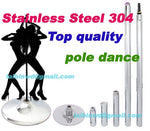 Top quality stainless steel 304 material 360 Spinning pole dance Home removable dance training pole for Beginner stripper dance