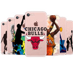Transparent NBA Case for iphone 5 5S SE 6 6S Fundas Cool Chicago Basketball Cover Coque For iphone 7 8 plus X Accessories