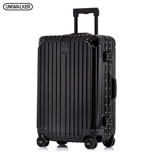 UNIWALKER PC+ABS 20''22''24''26''29'' Unisex Rolling Luggage with Spinner Wheels Carry-on Trolley Lightweight Hardside Suitcase