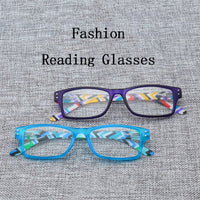 Unisex Reading Glasses magnifier Ultralight Simple Men Women Striped Legs Presbyopia Reader Spectacles Fatigue prevention R5