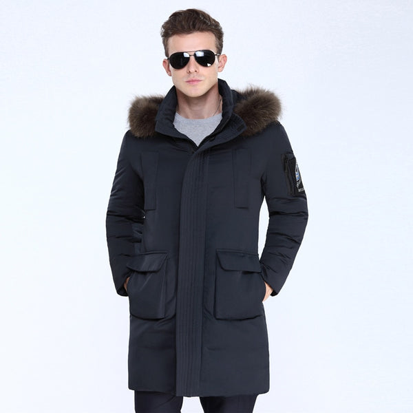 VSD 90% White Duck Down Men's Jackets Quality Handsome Warm Long Fashion Business Winter Clothing Casual Coat Male Parkas VS807