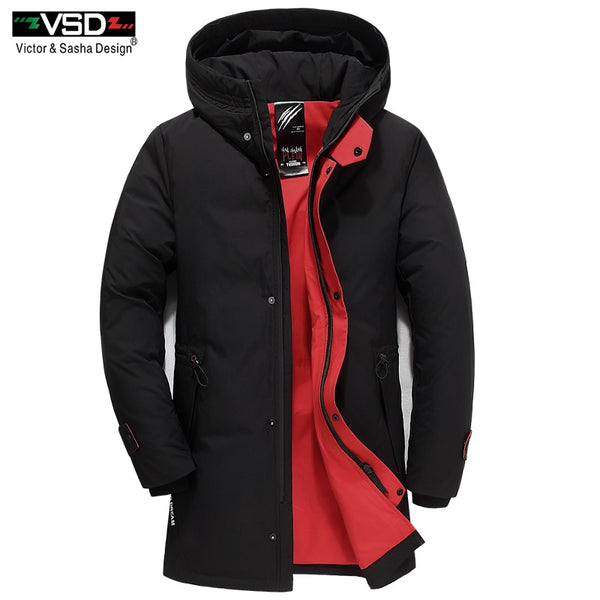 VSD Warm Winter Duck Down Slim Jacket For Mens Hooded Collar Coat Men's Parka Winterjas Heren Daunenjacke Windbreaker New VSD115