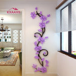 Vine Wall stickers home decor large paper flowers living room bedroom wall decor sticker on the wallpaper Diy Home Decals