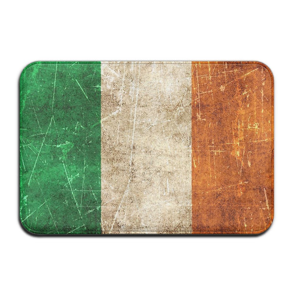 "Vintage Aged And Scratched Irish Flag Doormats Entrance Rug Floor Mats Doormats Floor Mat 15.7""23.6"""