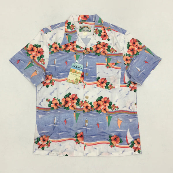 c70ed96478 Vintage Men's Hawaiian Shirt Summer Floral Print Short Hawaii Aloha Shirts  For Men Vacation Beach Clothing