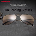 WEARKAPER Grey Lens Metal Frame Spring Hinges Reading Glasses Sun Readers Driving Goggles Diopter 100 To 350 Oculos