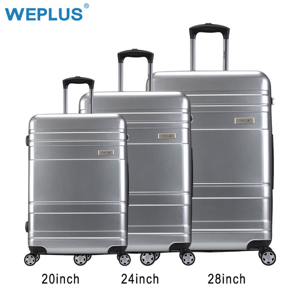 WEPLUS 3PCS/Set Suitcase PC Rolling Luggage Spinner Travel Suitcase With Wheels TSA lock Women Men 20 24 28inch Free Shipping