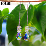 WKOUD EAM Jewelry / 2019 New Fashion Temperament Tassel Water Drop Earrings Personality All-match Women's Accessories S#R55000