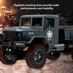 WLtoys 124302 RC Car 1:12 2.4GHz 4WD Full-Scale Speed 1200G Load Military Off-road RC Cars Toys for Children Kids Toy