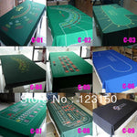 WP-001  Professional Water Resistant Poker Table Cloth,  Casino Layout Game Cloth