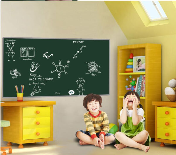 Wall Sticker Waterproof Self-Adhesive Removable Blackboard Black Board Office Wall Stickers Children Room Decor H045