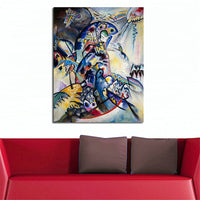 Wassily Kandinsky Wall Pictures For Living Room Canvas Art Home Decor Modern No Frame Oil Painting