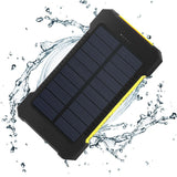 Waterproof Solar Power Bank Real 20,000 mAh Dual USB External Battery Charger with Light Lamp