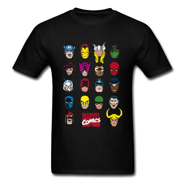 Well Chosen Marvel Comics T Shirts Justicial League Legend Hero Cool Tshirts Men Spiderman X-men Batman Ultimate Captain America
