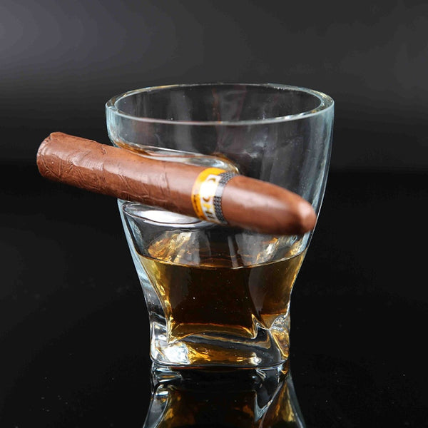 Whisky Cigar Cigarette Crystal Drinking Imported Wine Liquor Juice Cup Originality Creative Thickening Glasses Square Swig Mug