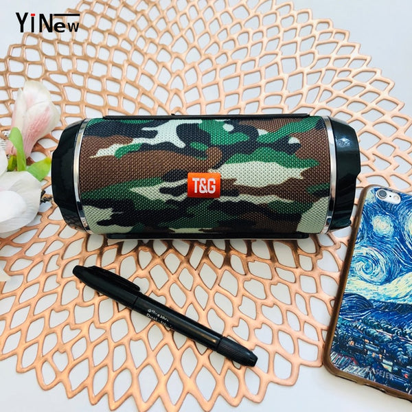 Wireless Portable Bluetooth Speaker Outdoor Waterproof Boombox Stereo Subwoofer Bass Slim Column Support TF USB AUX For Laptop