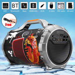 Wireless bluetooth Power Speaker Portable Outdoor Stereo Bass Subwoofer Karaoke DJ Loud Music Player +Microphone FM USB AUX SD