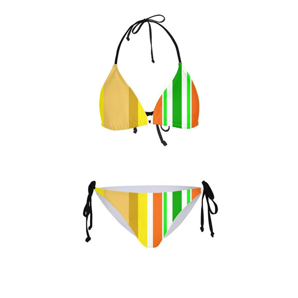 Women Sexy Bikinis Bandeau Bandage Bikini Set Push-Up Brazilian Swimwear Beachwear Swimsuit 2019 Mujer Striped Maillot De Bain