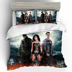 Wonder Woman Bedding Set Cotton Queen King Size Printing Bedding Sets Duvet Cover Bed Sheets Home Textile Pillowcases Bed Linen 1