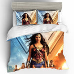 Wonder Woman Cotton Printing Bedding Set Queen King Size  Bedding Sets Duvet Cover Bed Sheets Pillowcases Bed Linen Home Textile 1